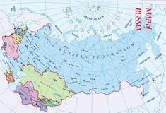 Mapa Ruska - latinka