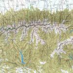 Mapa pohoří FAGARAŞ a naší trasy