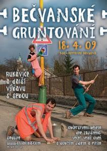 Plakát na Gruntování