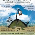 Plakát na IV. Valalašský orieňťák