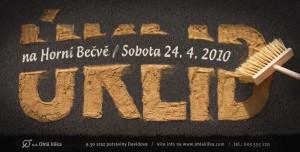Úklid 2010 - plakát na akci