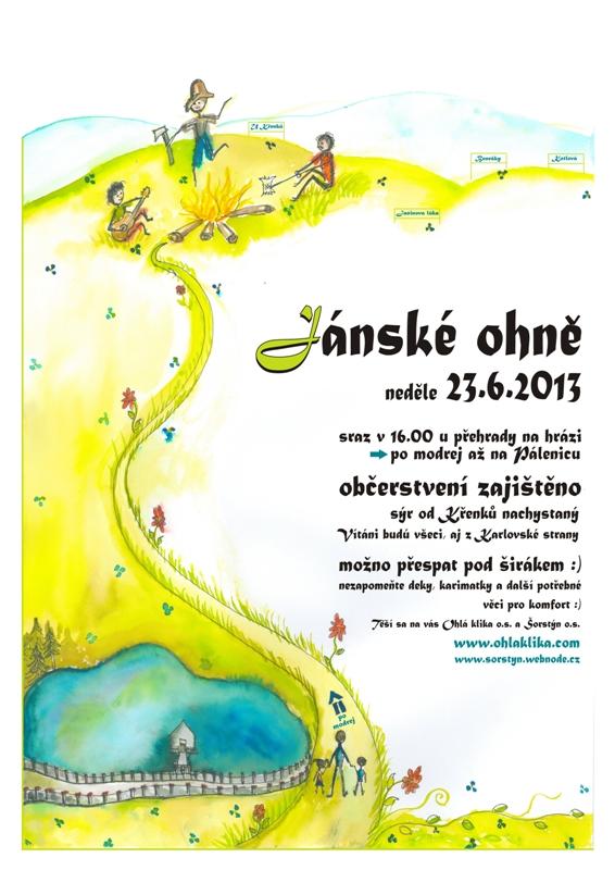 plakát Jánské ohně 2013